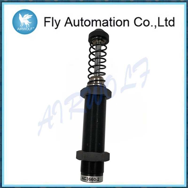 Black Airtac Shock Absorber With Plastic Cap / AC3660-2 Hydraulic Buffer