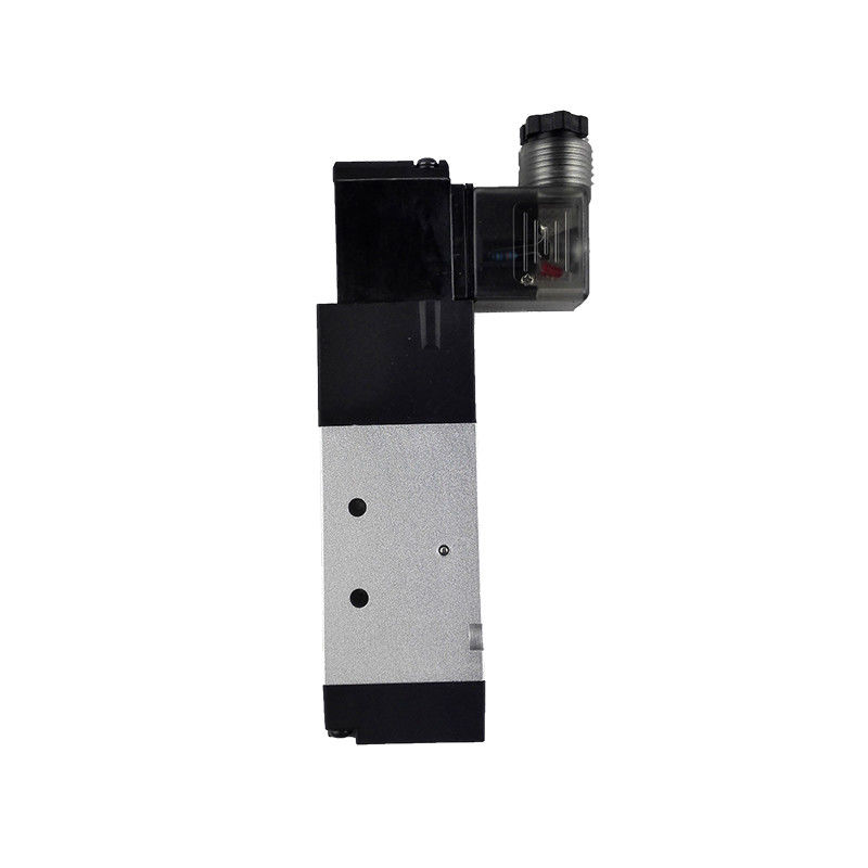 Medium Pressure 3 Way Pneumatic Solenoid Valve Air Solenoid Valve Aluminum Body